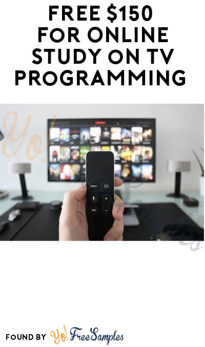 FREE $150 for Online Study on TV Programming (Must Apply)