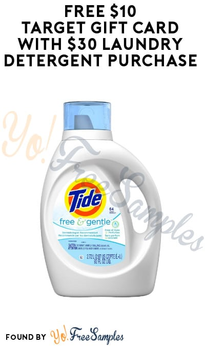 FREE $10 Target Gift Card with $30 Laundry Detergent Purchase (Target Circle Required)