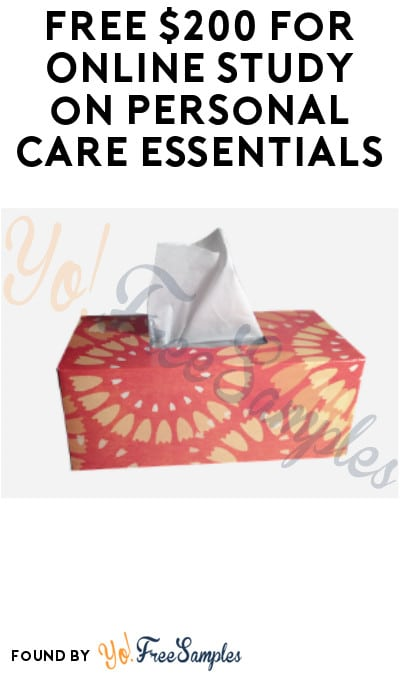 FREE $200 for Online Study on Personal Care Essentials (Must Apply)