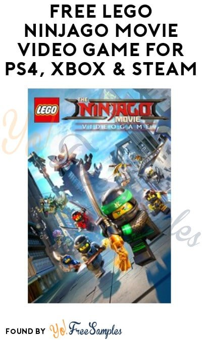 FREE LEGO Ninjago Movie Video Game for PS4, Xbox & Steam