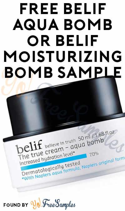 FREE Belif Aqua Bomb or Belif Moisturizing Bomb Sample