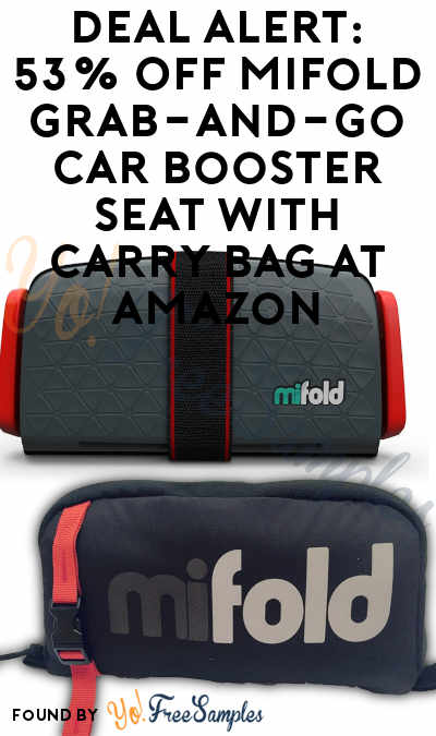 DEAL ALERT: 53% OFF mifold Grab-and-go Car Booster Seat with Carry Bag At Amazon