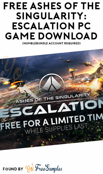 FREE Ashes Of The Singularity: Escalation PC Game Download (HumbleBundle Account Required)
