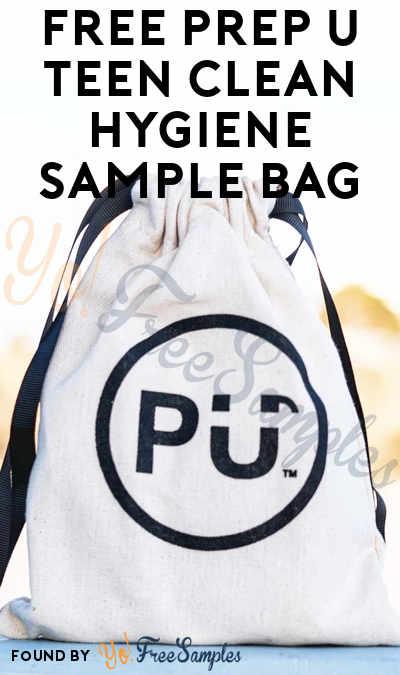 FREE Prep U Teen Clean Hygiene Sample Bag