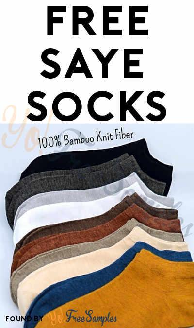 FREE Saye Crew or Ankle Socks