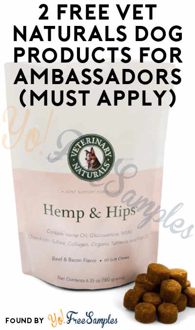 2 FREE Vet Naturals Dog Products For Ambassadors (Must Apply)