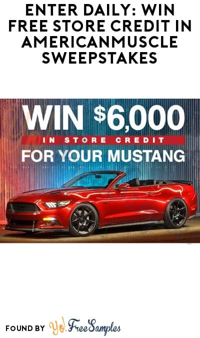 Enter Daily: Win FREE Store Credit in AmericanMuscle Sweepstakes