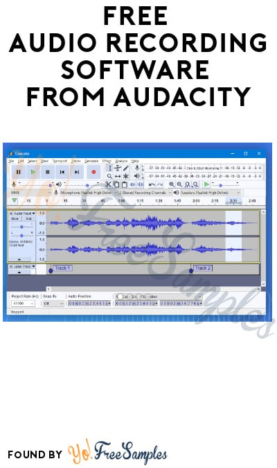 FREE Audio Recording Software from Audacity