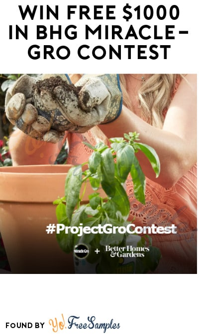 Win FREE $1,000 Cash Prize in BHG Miracle-Gro Contest