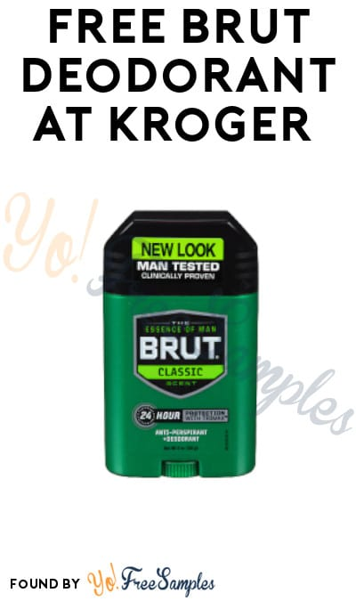 FREE Brut Deodorant at Kroger (Account / Coupon Required)