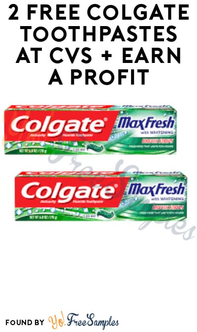 2 FREE Colgate Toothpastes at CVS + Earn A Profit (Coupon + Account/ App Required)