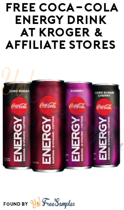 FREE Coca-Cola Energy Drink at Kroger & Affiliate Stores (Account/ Coupon Required)