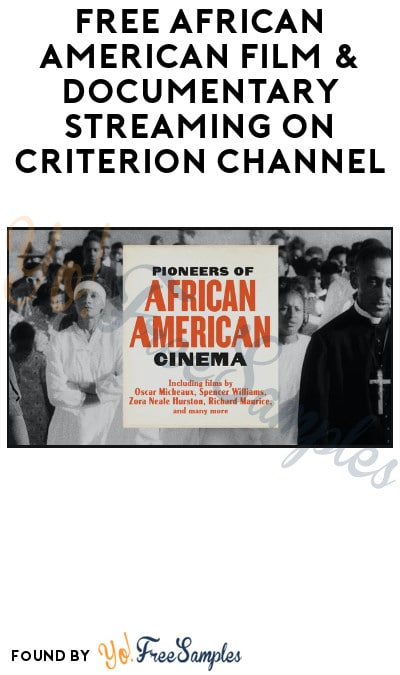 FREE African American Film & Documentary Streaming on Criterion Channel