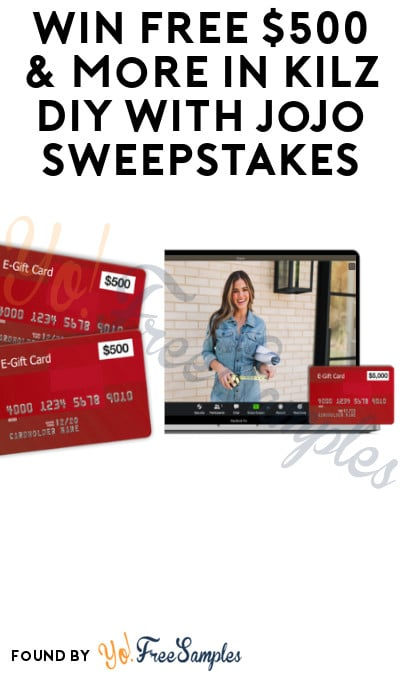 Win FREE $500 & More in Kilz DIY With Jojo Sweepstakes