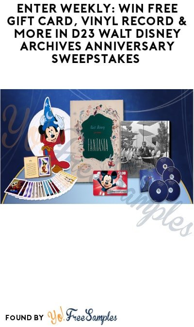 Enter Weekly: Win FREE Gift Card, Vinyl Record & More in D23 Walt Disney Archives Anniversary Sweepstakes (D23 Account Required)