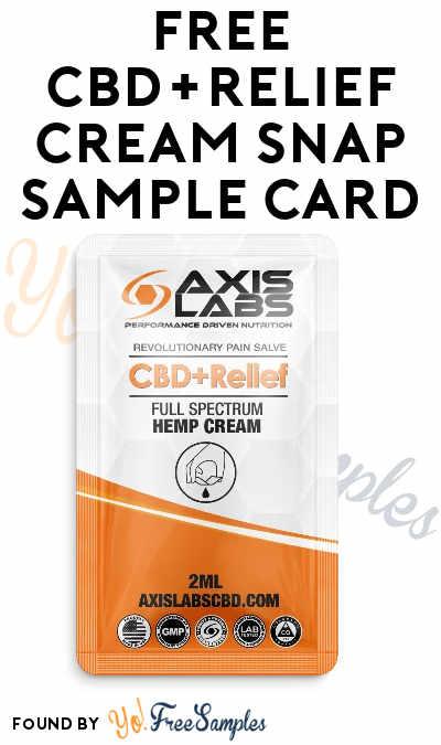 FREE CBD+Relief Cream Snap Sample Card