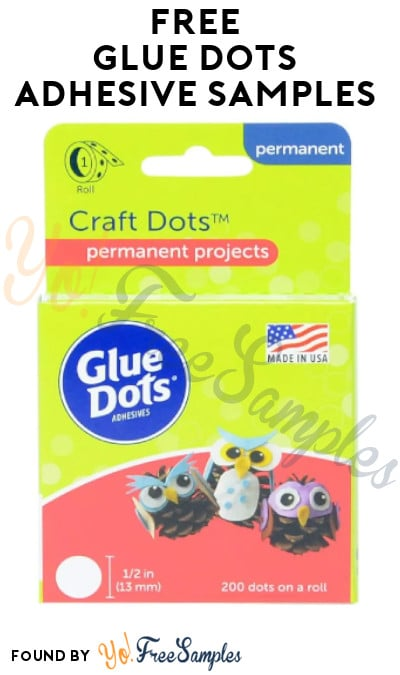 FREE Glue Dots Adhesive Samples