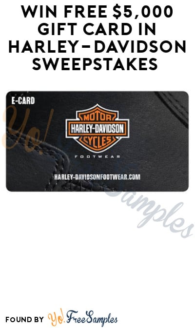 Win FREE $5,000 Gift Card in Harley-Davidson Sweepstakes