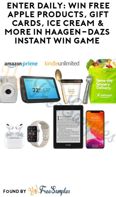Enter Daily: Win FREE Apple Products, Gift Cards, Ice Cream & More in Häagen-Dazs Instant Win Game