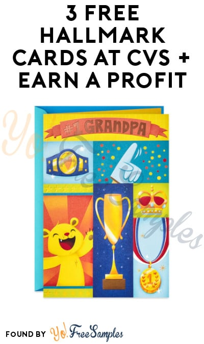 3 FREE Hallmark Cards at CVS + Earn A Profit (Coupon/ App Required)