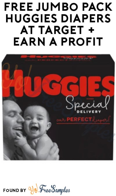 FREE Jumbo Pack Huggies Diapers at Target + Earn A Profit (Target Circle, Ibotta & Fetch Rewards Required)