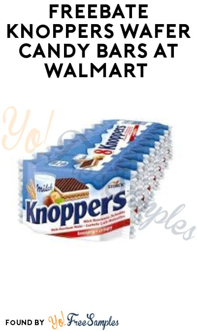 FREEBATE Knoppers Wafer Candy Bars at Walmart (Ibotta Required)