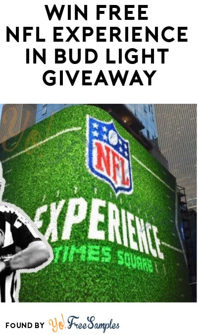 Win FREE NFL Experience in Bud Light Giveaway (Select States + Ages 21 & Older Only)