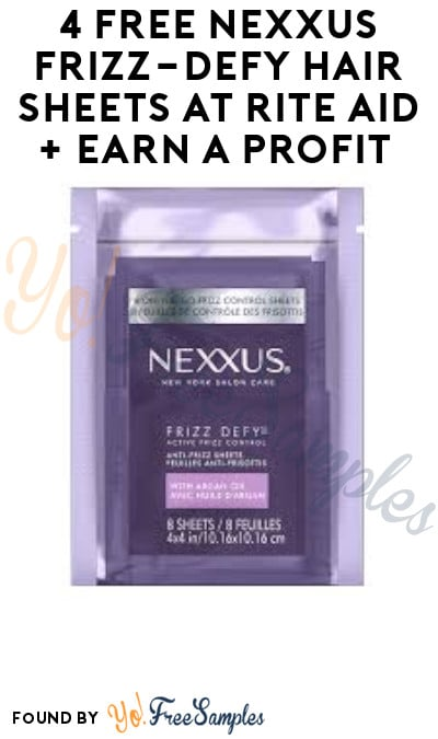 4 FREE Nexxus Frizz-Defy Hair Sheets at Rite Aid + Earn A Profit (Clearance Price + Account Required)