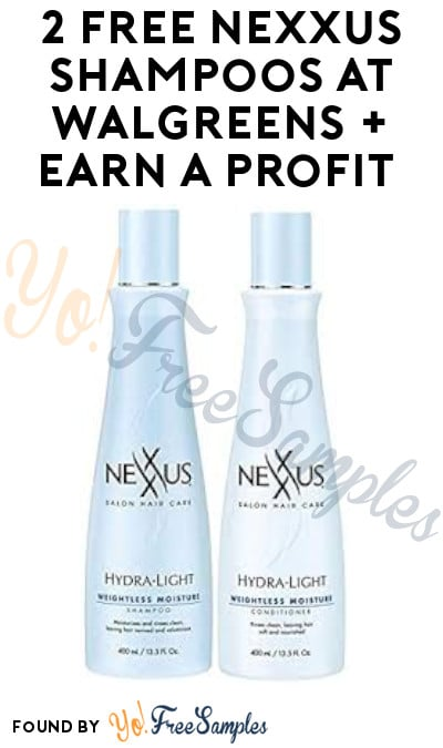 2 FREE Nexxus Shampoos at Walgreens + Earn A Profit (Account/ Coupon Required)
