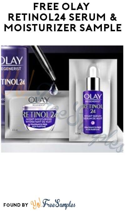 FREE Olay Retinol24 Serum & Moisturizer Sample (Facebook Required)
