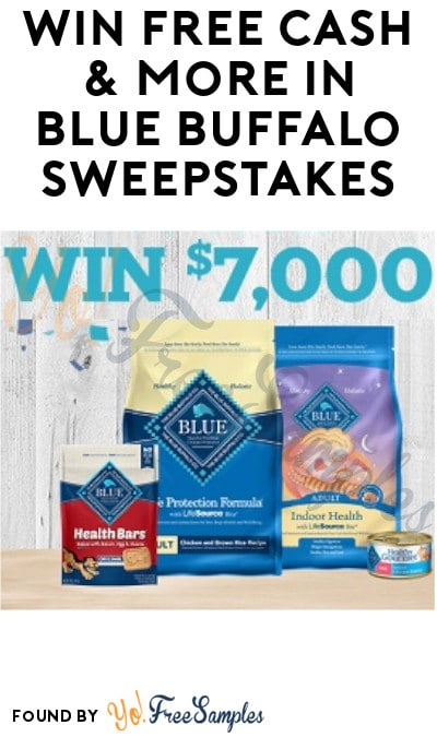 Win FREE Cash & More in Blue Buffalo Sweepstakes