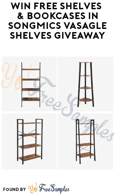 Win FREE Shelves & Bookcases in SONGMICS VASAGLE Shelves Giveaway