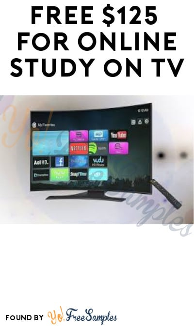 FREE $125 for Online Study on TV (Must Apply)