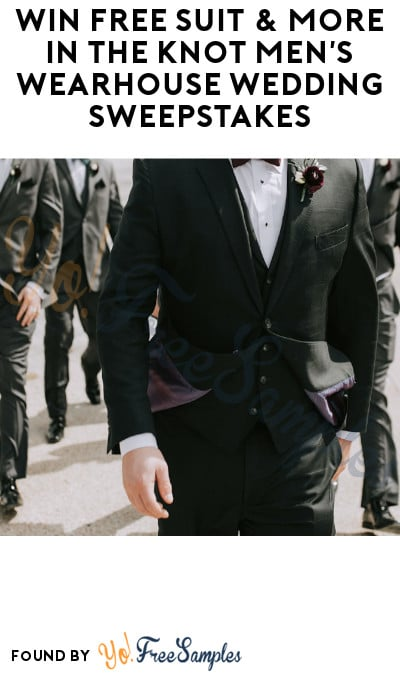 Win FREE Suit & More in The Knot Men's Wearhouse Wedding Sweepstakes