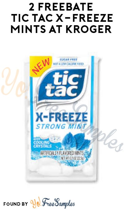 2 FREEBATE Tic Tac X-Freeze Mints at Kroger (Account & Ibotta Required + In-Stores Only)