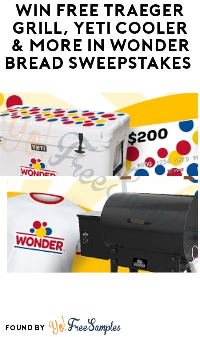 Win FREE Traeger Grill, Yeti Cooler & More in Wonder Bread Sweepstakes (Ages 21 & Older Only)