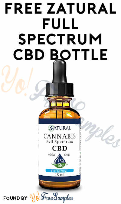 Nearly FREE Zatural Full Spectrum CBD 15ml Bottle ($1 Added After Posting)
