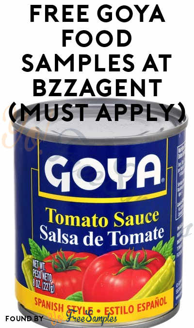 FREE Goya Food Samples At BzzAgent (Must Apply)
