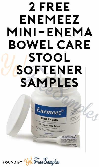 2 FREE Enemeez Mini-Enema Bowel Care Stool Softener Samples