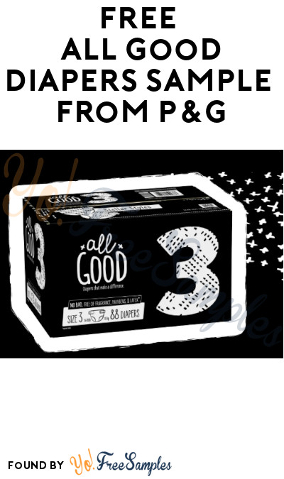 FREE All Good Diapers Sample from P&G