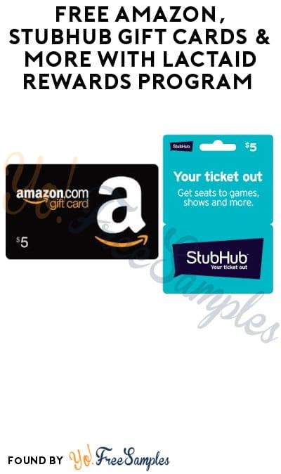 FREE Amazon, StubHub Gift Cards & More with Lactaid Rewards Program