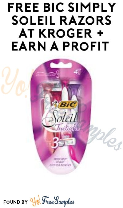 FREE BIC Simply Soleil Razors at Kroger + Earn A Profit (Account & Ibotta Required)