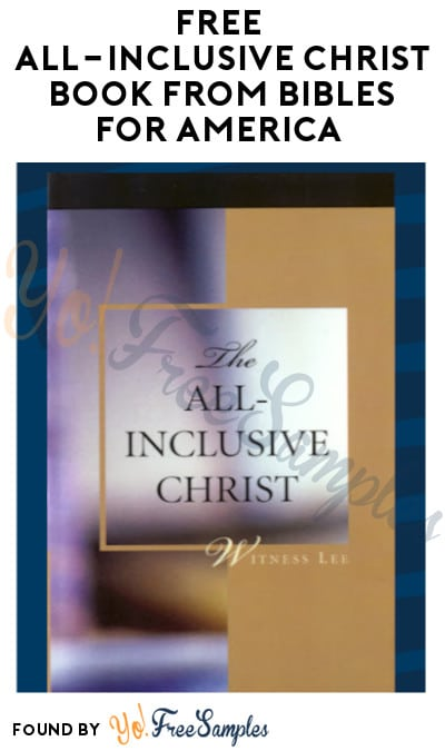 FREE 'All-Inclusive Christ' Book from Bibles for America