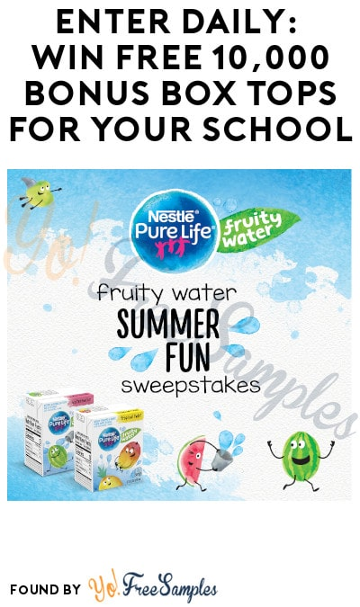 Enter Daily: Win FREE 10,000 Bonus Box Tops for Your School