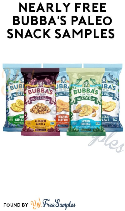 Nearly FREE Bubba's Paleo Snack Samples (Just Pay Shipping)