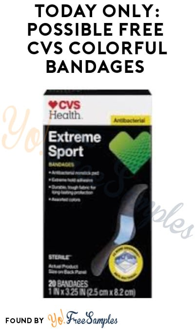 Today Only: Possible FREE CVS Colorful Bandages (App/ Coupon Required)