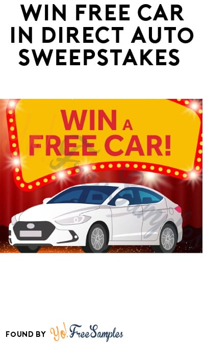 Win FREE Car in Direct Auto Sweepstakes (Select States Only)