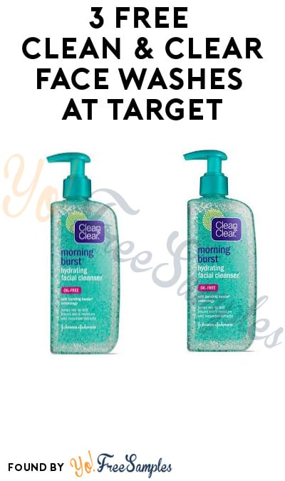 3 FREE Clean & Clear Face Washes at Target (Receipt Required)