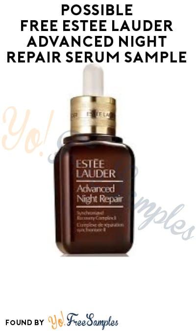 Possible FREE Estee Lauder Advanced Night Repair Serum Sample (Facebook Required)