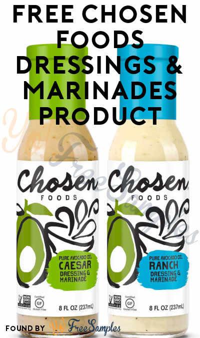 FREE Chosen Foods Dressings & Marinades Product